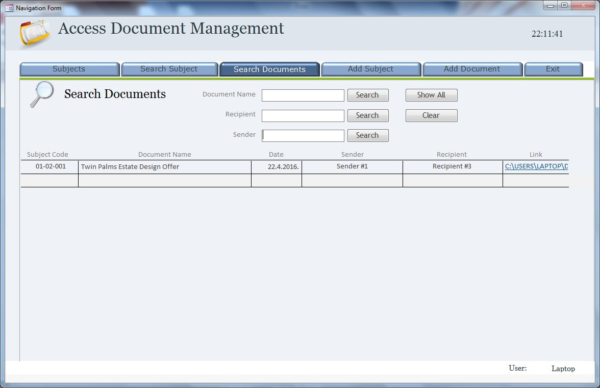 Access Document Management